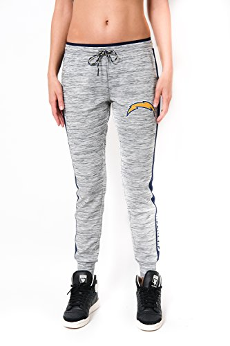 NFL Women's San Diego Chargers Jogger Pants Active Basic Fleece Sweatpants, X-Large, (San Diego Chargers Clothing)
