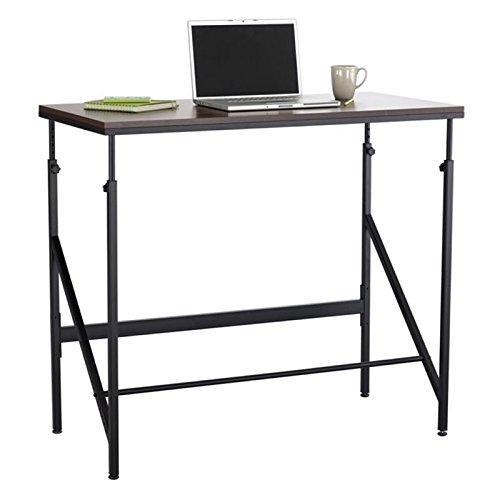 Safco Adjustable Workstation - Safco Products 1957WL Sit/Stand Bi-Level Desk, Walnut/Natural