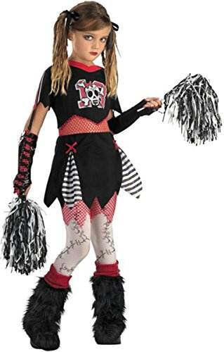 Cheerless Leader Child Costume - Large Black