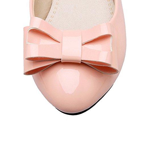 Luccichio Flats Basso Rosa Puro Chiusa AllhqFashion Ballet FBUIDC005243 Tirare Tacco Donna Punta RqxRgIwH