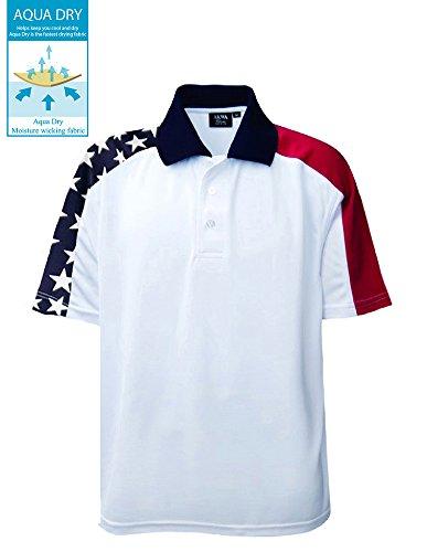 Akwa Men's Patriotic Polo Made in USA