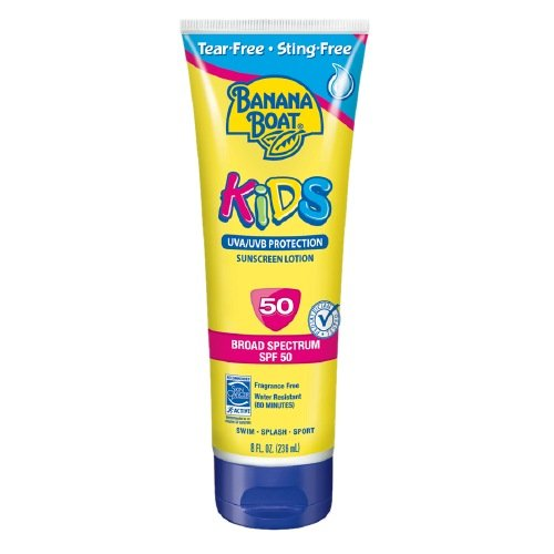 Banana Boat Kids Sunscreen Lotion, SPF 50, Fragrance Free 8 fl oz (236 ml) Pack of 6 by Banana Boat