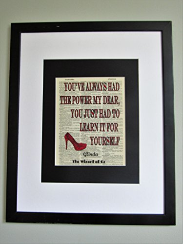 Youve Always Had The Power My Dear Wizard Of Oz Quote On Upcycled Vintage Dictionary Page Wall Décor Nursery Decor