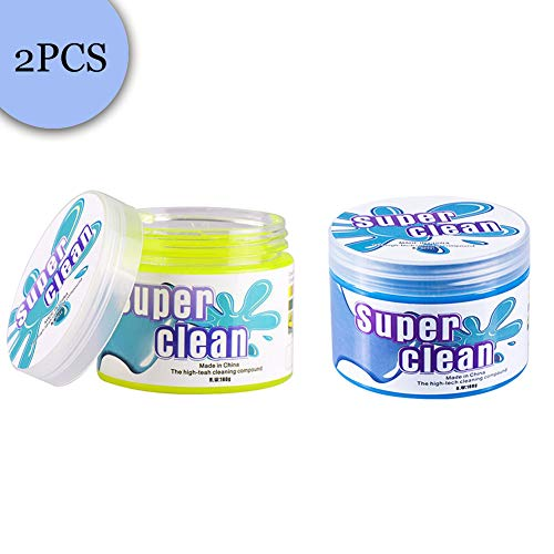 Keyboard Cleaner Cyber Cleaning Sticky Gel to Remove Scraps Dirt Crumbs Dust Hair Putty Slime from Keyboard Laptop Computer Cellphone Pad Electronics Controller Car Air Vents Fan Keypad Calculator ()