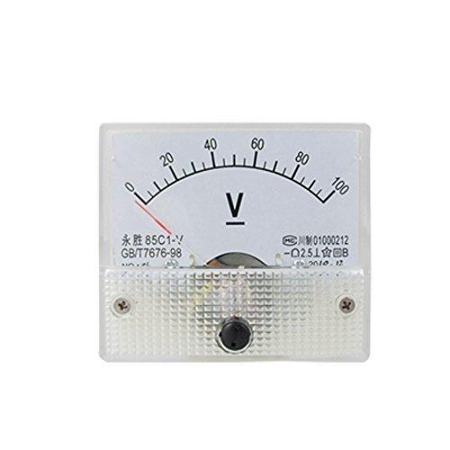 eDealMax DC 0-100V 85C1 analogico Pannello di tensione di Volt Metro, voltmetro Gauge, Bianco by eDealMax