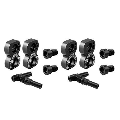 Baosity 2Pcs Lightweight V Brake Extend Converter Wheelset Alloy Frame Brake Adapter Mounting Holder Part Accessories - Black