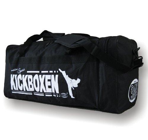 """BAY® XL Sporttasche """"mein Sport"""" Kickboxen Kick-Boxen, Thaiboxen Muay Thai, Tasche, Trainingstasche, Kickboxtasche Bag, schwarz, 70 x 32 x 30 cm Motiv"""
