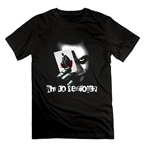 100% Cotton Men Joker Why So Serious The Dark Knight T Shirt