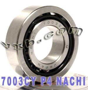 7003CYP4 Nachi Angular Contact Bearing 17x35x10 Abec-7 Japan Ball ()
