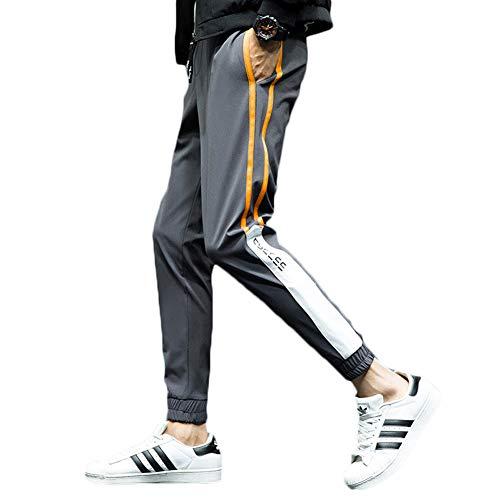 証明主導権アラブサラボロングパンツ メンズ ライン スウェット 速乾 スポーツ アウトドア 登山 カジュアル パンツ チノパン ウエストゴム イージーパンツ ジョガーパンツ トレーニングパンツ