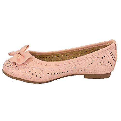 Chaussures Enfiler Enfants Plates Rose 304 Ballerine Plate À Filles txHwF4Pxq