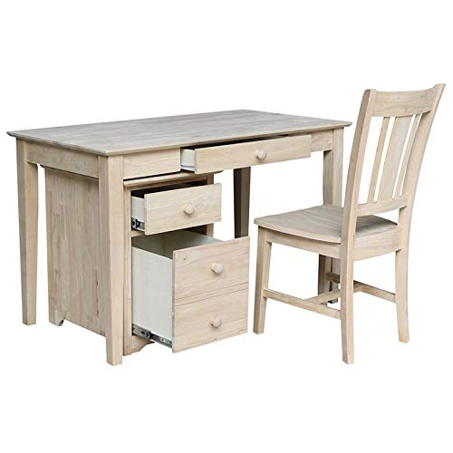 International Concepts 3 Piece Unfinished Writing Desk Set