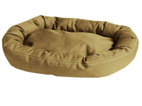 Carolina Bolster Pet Bed - CPC Brutus Tuff Comfy Cup Pet Bed, 42-Inch, Khaki