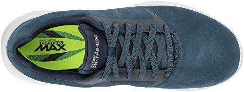 Skechers Heren On-the-go 3.0-deluxe City-sneaker Marine / Grijs