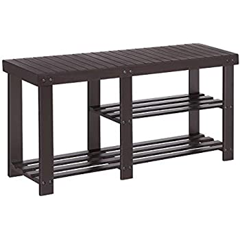 Stupendous Songmics Bamboo Shoe Rack Bench For Boots Entryway Storage Organizer 3 Tiers Shoe Shelf Multi Function For Hallway Bathroom Living Room Corridor Gamerscity Chair Design For Home Gamerscityorg