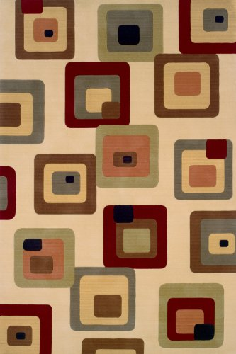 Momeni Rugs ELEMTEL-10IVY2030 Elements Collection, 100% New Zealand Wool Hand Carved Contemporary Area Rug, 2' x 3', (Momeni Elements Collection)