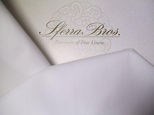 Sferra 500 TC White 100% Egyptian Cotton Percale King (4) Piece Sheet Set Made in - Luxury Celeste Sferra Bedding