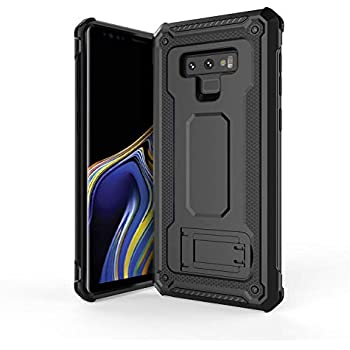 Olixar Samsung Galaxy Note 9 Tough Case - Premium Drop Protection - Media Stand - Military Style - Rugged Manta - Black