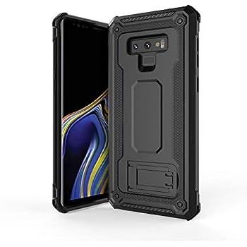 Olixar Samsung Galaxy Note 9 Tough Case - Premium Drop Protection - Media Stand - Military Style - Rugged Manta - Black