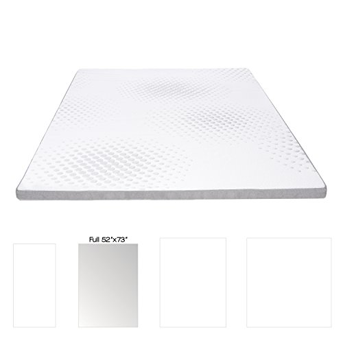 Milliard 2-inch Gel Memory Foam Mattress Topper - Featuring a Washable Removable Soft Bamboo Cover - Full - (Sofa Bed Topper)
