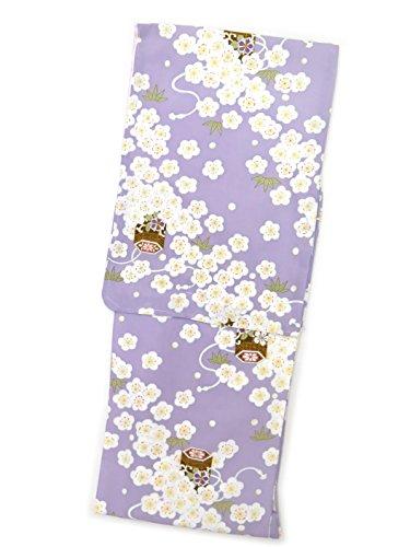 コンパニオンテメリティ発症洗える着物 袷 小紋 TLサイズ RKブランドの着物 「薄紫 桜に貝桶」RKATL2414