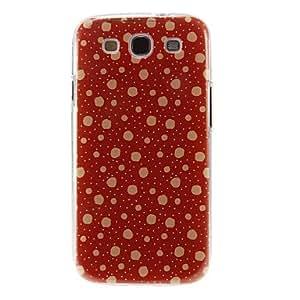 Patrón Nevando cubierta del estuche duro de protección de plástico para el Samsung Galaxy S3 I9300