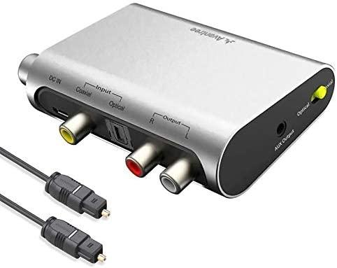 Lodenlli Digital-Analog-Wandler 2-Chip-Digitalfaser-Koaxial-Analog-Audio-Wandler Computer Externes Zubeh/ör