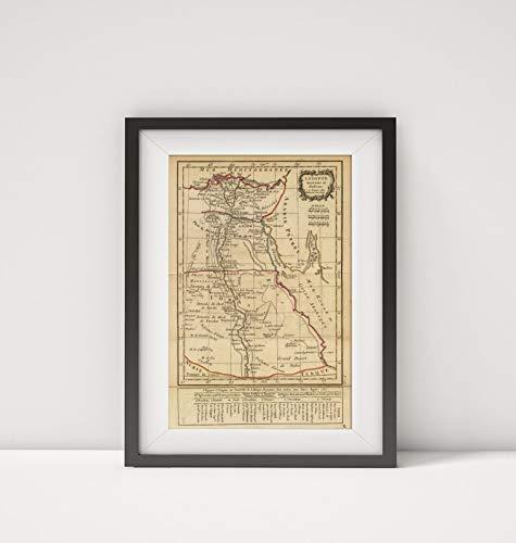 - 1800 Map of Egypt|L'Egypte|Title: L'Egypte ancienne et Moderne. A Paris, Chez Delamarche, Geog. (ca.