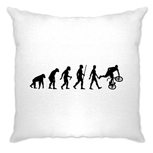Tim And Ted Exrtreme Sports Cushion Cover Evolution of BMX Bike Dirt White One -