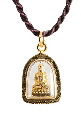Buddha Golden Thai Amulet Pendant Weekday Birthday (Thursday - Phra Samathi Meditation) (Amulet Buddha Thai)