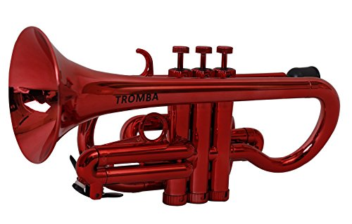 Tromba TC1-MT Pro Professional Plastic BB Cornet, Metallic Red by Tromba