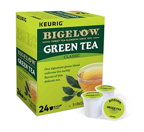 Keurig Tea and Ice Tea Pods K-Cups 18/22 / 24 Count Capsules ALL BRANDS/FLAVORS (Twinings/Chai/Celestial/Lipton/Tazo/Diet Snapple) (24 Pods Green Tea Bigelow) -  Globalpixels