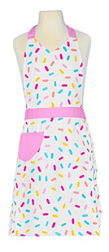 Handstand Kitchen Women's 100% Cotton 'Sprinkles' Apron with Patch Pocket by Handstand Kitchen