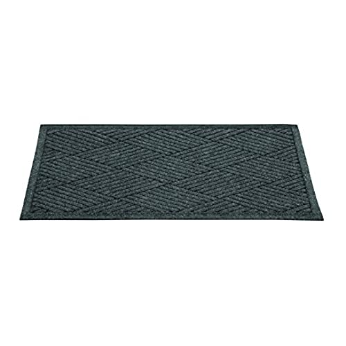 Guardian EcoGuard Diamond Indoor Wiper Floor Mat, Recycled Plactic and Rubber, 2'x3', Charcoal Black supplier