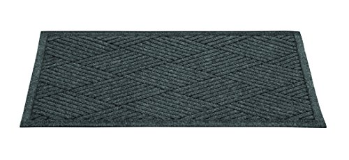 (Guardian EcoGuard Diamond Indoor Wiper Floor Mat, Recycled Plactic and Rubber, 2'x3', Charcoal Black)