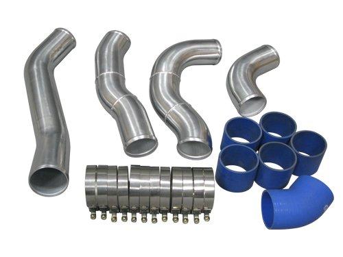 Double Core Intercooler Kit For 99-03 Ford Super Duty 7.3L PowerStroke Diesel V8 F250 F350 CXRacing