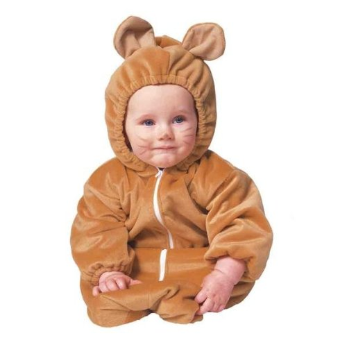RG Costumes Bear Bunting Zipper Velboa Infant Costume