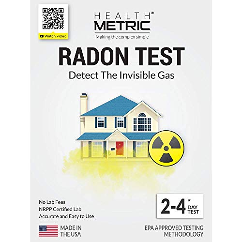 Radon Test Kit for Home - Easy to Use Charcoal Radon Gas Detector for Peace of Mind | 48-96h Short Term EPA Approved Radon Tester | Includes Lab Fees | -