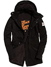 "<span class=""a-offscreen"">[Sponsored]</span>Mens Rookie Military Parka Jacket Bitter Black"