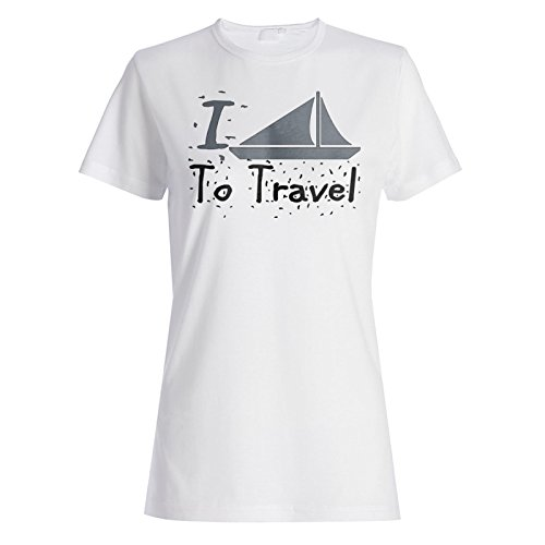 Neue I Love Travel Boat Ship Damen T-shirt l748f