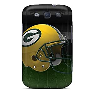 For Luoxunmobile333 Galaxy Protective Cases, High Quality For Galaxy S3 Green Bay Packers Helmet Skin Cases Covers