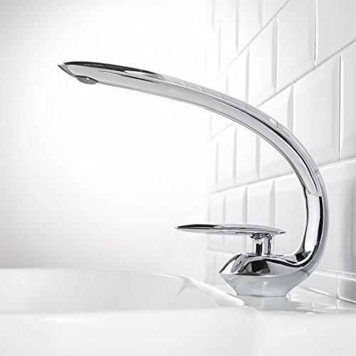 (Fapully Single Handle Bathroom Vanity Sink Lavatory Faucet,Chrome)