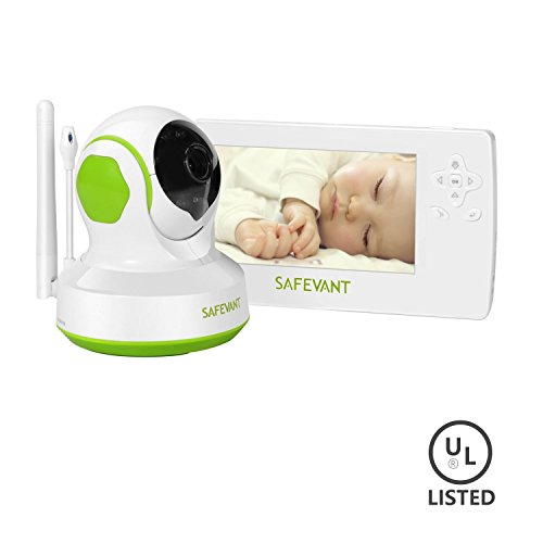 Baby Monitor, SAFEVANT 4.3 Inch Wireless Digital Video Baby Monitor Camera With Night Vision 2 Way Talk And Temperature Alert [2017 Updated] SAFESKY
