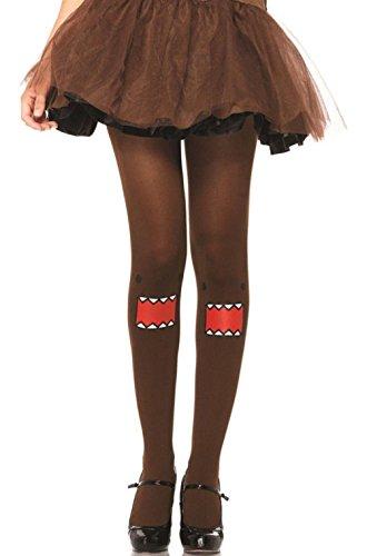 Domo Tights Domo Costume Tights Leg Ave Tights Japanese Domo (Nerd Domo Costume)