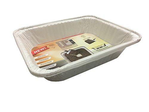 Aluminum Pan with BONUS Pre lined Parchment Paper Pack of 30 pans 9x13