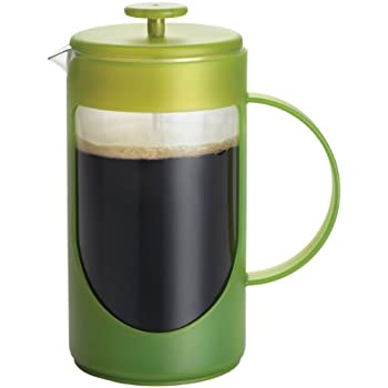 BonJour Coffee Unbreakable Plastic French Press, 12.7-Ounce, Ami-Matin(tm), Green