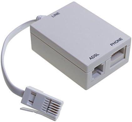 ADSL Broadband Micro Filter for BT / SKY / TALK TALK Telephone Phone Microfilter Splitter Leaded