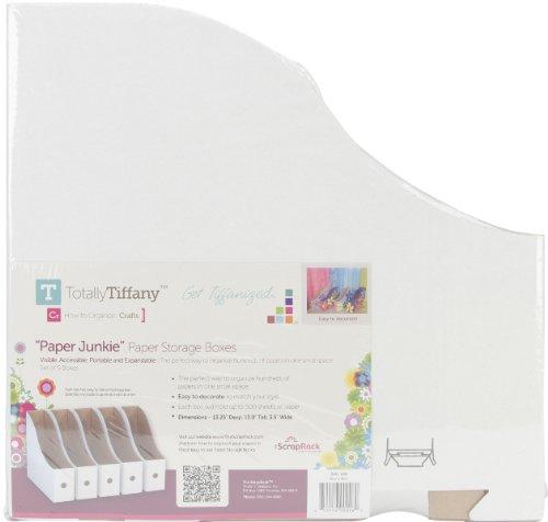 ScrapRack Paper Storage Boxes - 13'' x 3.5'' x 13.25'' - 5 Ct 1 pcs sku# 1794294MA