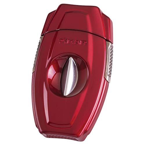 (Xikar - VX2 V-Cut Metal Cigar Cutter - Color: Red)
