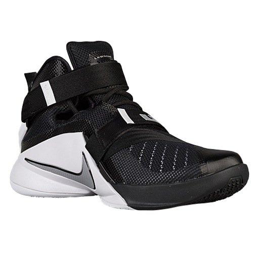 Nike Men's Lebron Soldier IX Team Basketball Shoe Black/White/Anthracite/Silver Size 11 M US ()